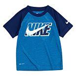 Toddler Boy Nike Dri-FIT Logo Swoosh Raglan Tee
