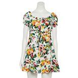 Juniors' Speechless Off-the-Shoulder Floral Dress