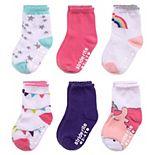 Baby Girl Stride Rite 6-Pack Unicorn Crew Socks