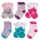 Toddler Girl Stride Rite 6-Pack Critter Crew Socks