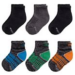 Toddler Boy Stride Rite 6-Pack Half Cushion Crew Socks