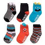 Toddler Boy Stride Rite 6-Pack Monster Crew Socks