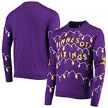 Men's FOCO Purple Minnesota Vikings Light-Up Ugly Sweater