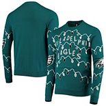 Men's FOCO Midnight Green Philadelphia Eagles Light-Up Ugly Sweater