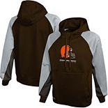 Men's New Era Brown Cleveland Browns Combine Authentic Back with a Bang Pullover Hoodie