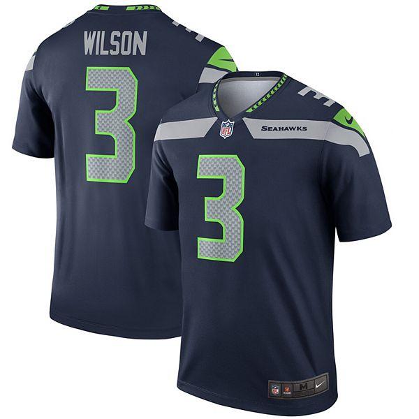 Men's Nike Russell Wilson Navy Seattle Seahawks Legend Jersey
