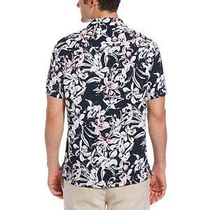 Men's Cubavera Regular-Fit Floral Viscose Button-Down Camp Shirt