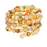 Sonoma Goods For Life® Gold Tone & Multi-Colored Beads Coil Bracelet