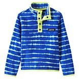 Lands' End Kids 4-20 Fleece Snap Neck Pullover