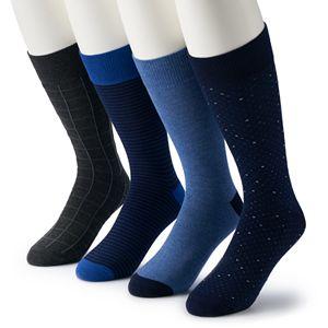Men's Croft & Barrow® 4-pack Opticool Pattern Crew Socks