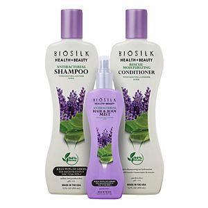 BioSilk Health + Beauty 9-1-1 Hair Rescue Kit: Antibacterial Shampoo, Conditioner and Hair Mist