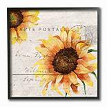 Stupell Home Decor Sunflower Mail Framed Wall Art