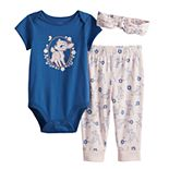 Disney's Bambi Baby Girl Bodysuit, Pants & Headband Set by Jumping Beans®