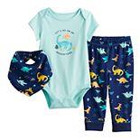Baby Boy Jumping Beans® Graphic Bodysuit, Pants & Bib Set
