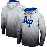 Men's Colosseum Heathered Gray Air Force Falcons Sitwell Sublimated Pullover Hoodie