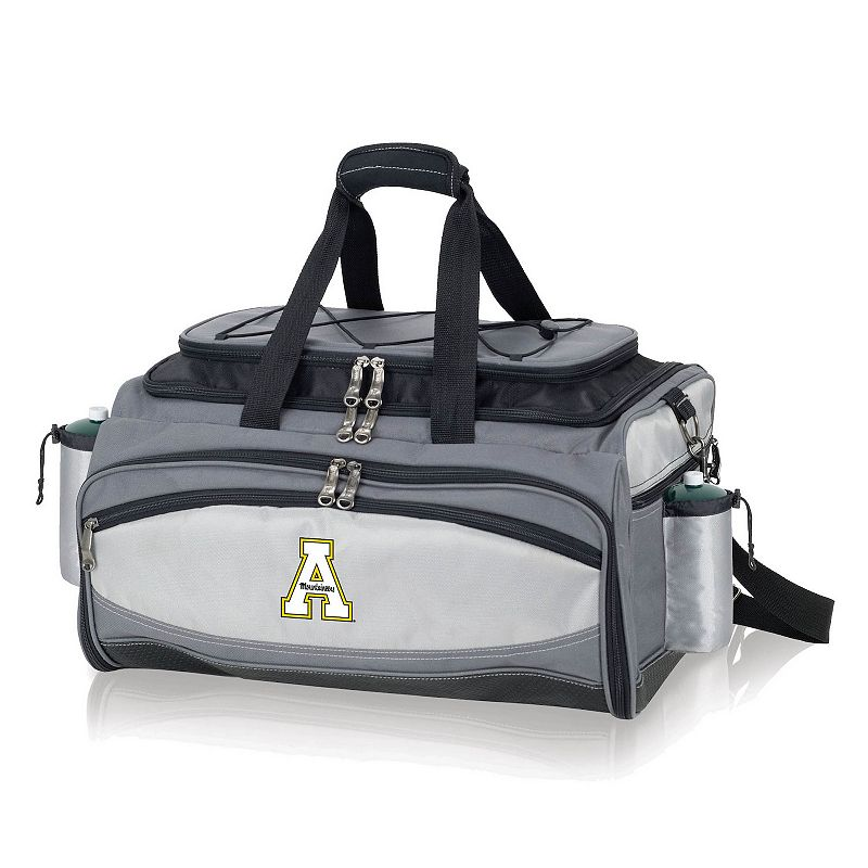 Picnic Time Appalachian State Mountaineers Vulcan Portable Propane Grill & Cooler Tote, Black