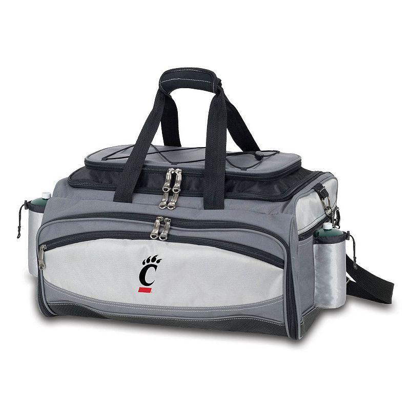 Picnic Time Cincinnati Bearcats Vulcan Portable Propane Grill & Cooler Tote, Black
