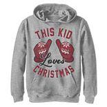 Boys 8-20 This Kid Loves Christmas Graphic Fleece Hoodie