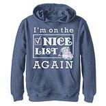 Boys 8-20 I'm On The Nice List Again Christmas Graphic Fleece Hoodie