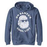 Boys 8-20 On Santa's Cool List Christmas Graphic Fleece Hoodie