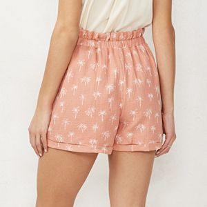 "Women's LC Lauren Conrad 3"" High-Waisted Paperbag Shorts"