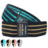 Gladiator Gym Gear Glute Bands, Booty Bands For Working Out. Squat Bands Resistance Loops. Fabric Resistance Bands, 2 Pack. Cloth Booty Band Nonslip Heavy Duty.
