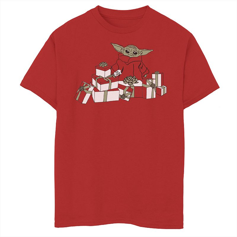 Boys 8-20 Star Wars The Mandalorian Halloween The Child Presents Graphic Tee. Boy's. Size: XS. Red