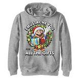 Boys 8-20 Nintendo Super Mario All The Gifts Christmas Graphic Fleece Hoodie