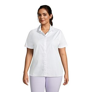 Plus Size Lands' End No-Iron Supima Cotton Polo Shirt