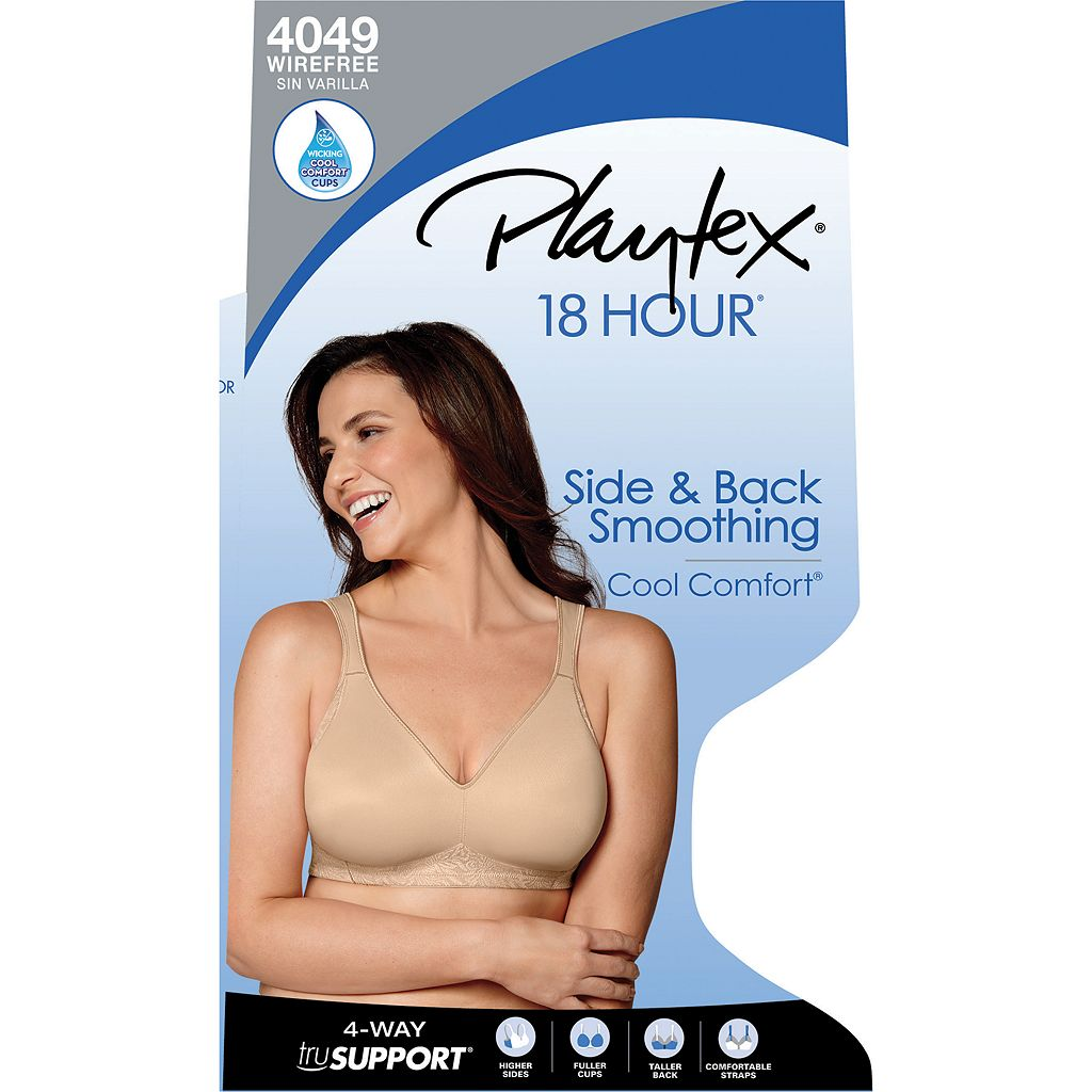 Playtex Bra: 18 Hour Seamless Smoothing Full-Figure Bra 4049 - Women's