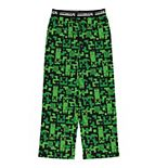 Boys 4-16 Minecraft Creeper Cube Pajama Pants