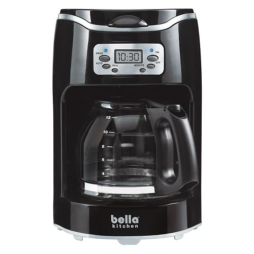 Bella One Cup Coffee Maker Kohl S : Bella Kitchen 12-Cup Programmable Coffee Maker