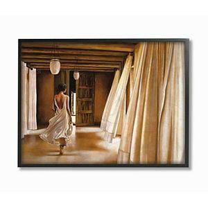 Stupell Home Decor Woman Walking the Hall Framed Wall Art