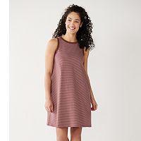 Deals on Sonoma Goods For Life Highneck Swing Dress Womens