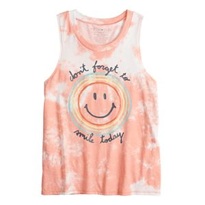 """Juniors' """"Don't Forget to Smile Today"""" Muscle Tee"""