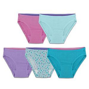 Girls 6-16 Fruit of the Loom Breathable 5-pk. Bikini Panties