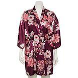 Plus Size Lilac+London Satin Wrap Robe