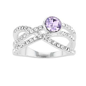 Brilliance Crossover Ring with Swarovski Crystals