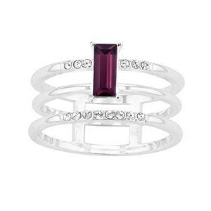 Brilliance 3 Row Ring with Swarovski Crystals