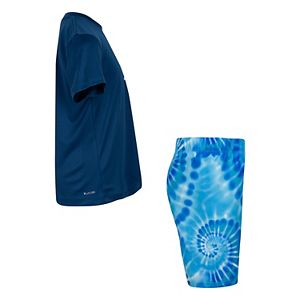 Boys 4-7 Hurley Tie Dye Rashguard Top & Swim Trunks Set