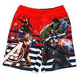 Boys 4-7 Marvel Avengers Striped Swim Trunks