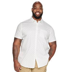 Big & Tall Apt. 9® Patterned Woven Button-Down Shirt