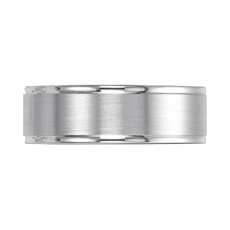 Sterling Silver Brushed WeddingBand - Men