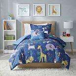 Mi Zone Kids Rainbow Safari Printed Comforter Set and Shams