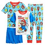 Boys 4-10 Nintendo Mario Ready to Play 4-Piece Pajama Set