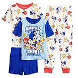 Boys 4-10 Sonic the Hedgehog Speed Team 4-piece Pajama Set