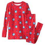 Kids 4-16 Lands' End Pattern Snug Fit Top & Bottoms Pajama Set