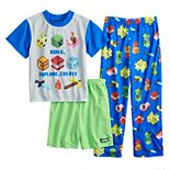 Boys 6-12 Minecraft Explore Fun 3-Piece Pajama Set