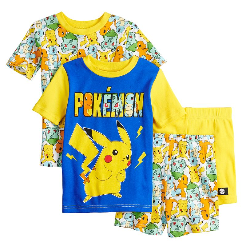 Boys 6-12 Pokemon Poke Time Tops & Shorts Pajama Set, Boy's