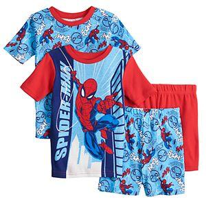 Boys 4-10 Marvel Spiderman Spins a Web Tops & Shorts Pajama Set
